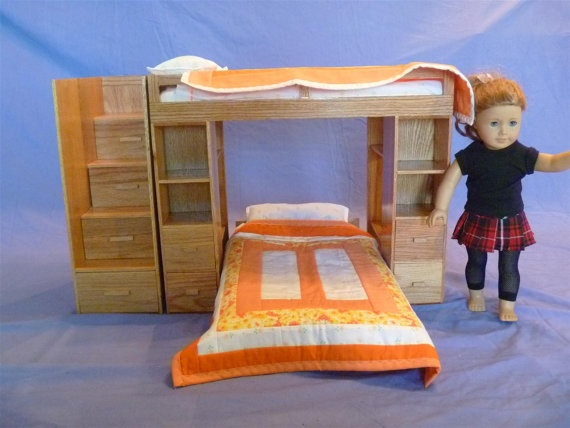 Awesome Etsy American Girl bed - don't have the space or the money, but think it's adorable