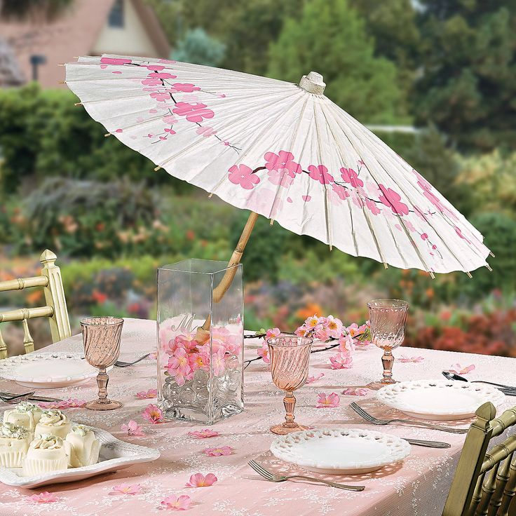 Cherry Blossom Parasol - Oriental Trading - Discontinued