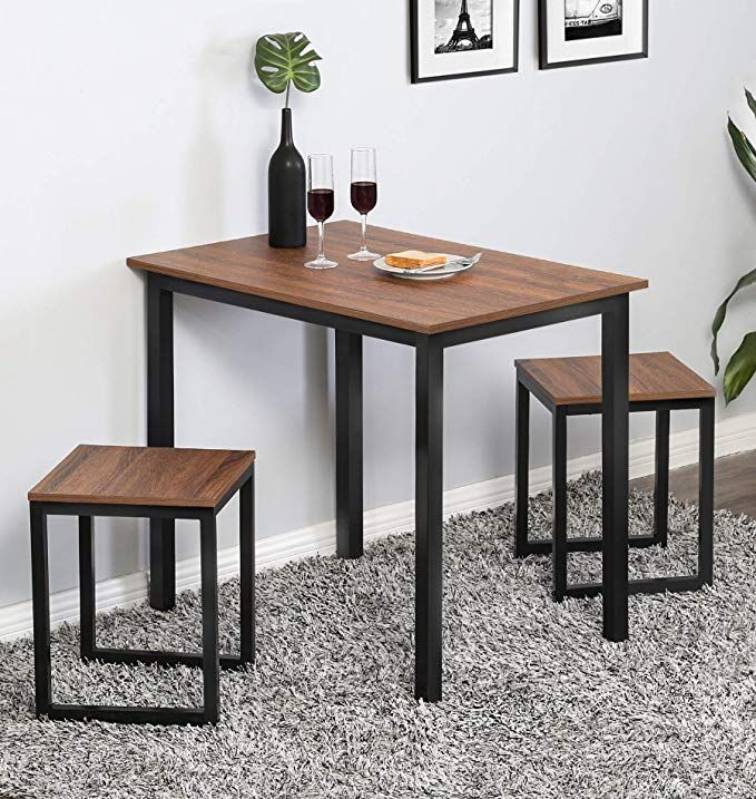 Amazon Com Homury Modern Wood 3 Piece Dining Set Studio