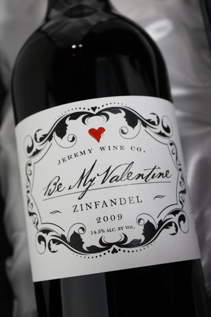 Jeremy Wine Company's cute valentine wine to share with someone you love.