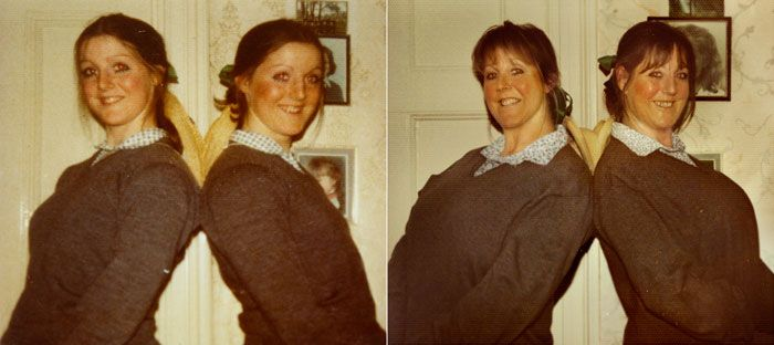 Childhood Photos Recreated Decades Later - by irina werning - Campbell Twins 1976 & 2011 London