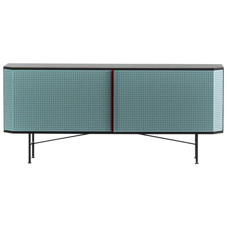 """""""Perf"""" Sideboard in Varnished Steel & Oak Veneered Plywood by Moroso for Diesel"""