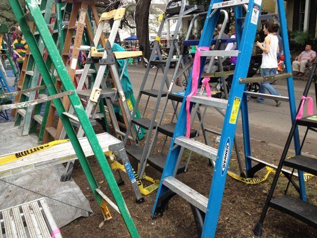 Werner ladders at Mardi Gras
