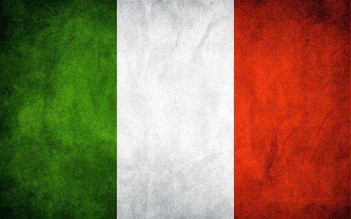 Italian flag, 4k, flag of Italy, grunge, flags, Italy flag