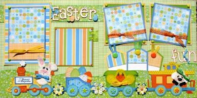 """The Avid Scrapper: """"Easter Fun"""" Pages"""