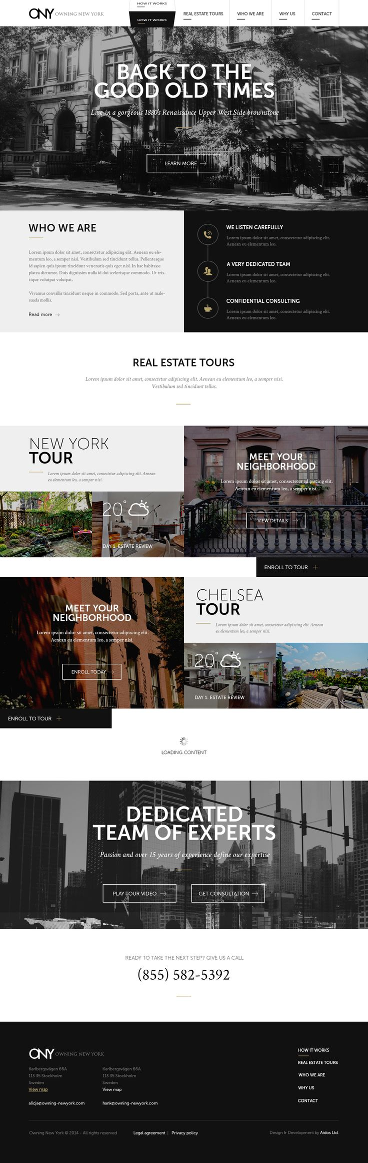 web design | Project Owning New York > landing page