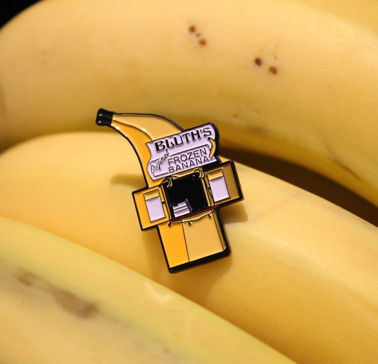 """These 1.5"""" soft enamel pins come with a double clasp rubber backing. There's always money in the banana stand!"""