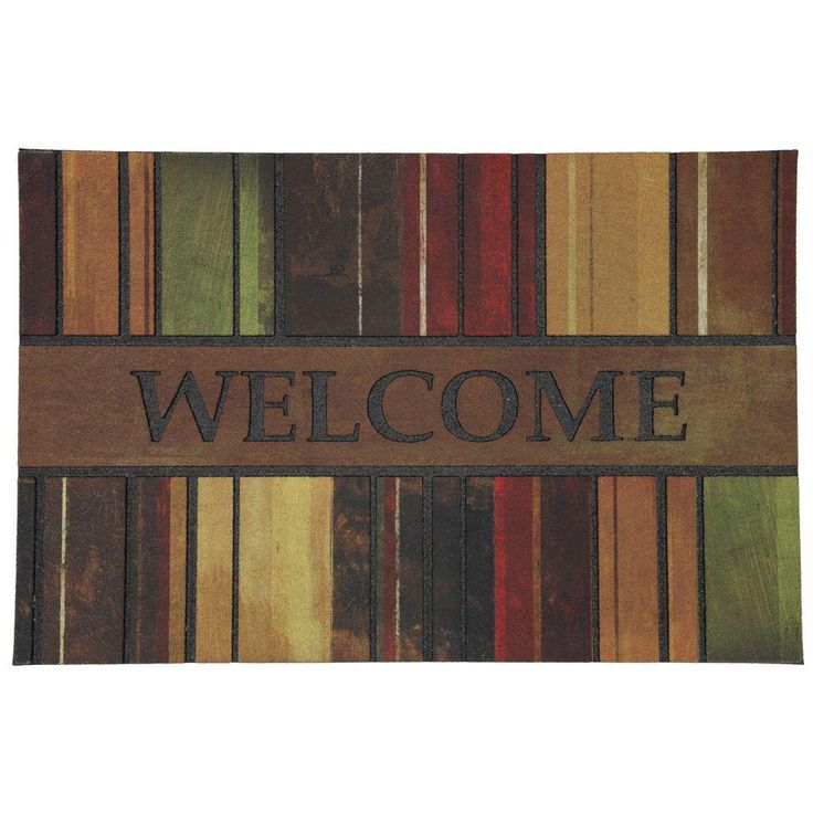 Mohawk Home 23 in. x 35 in. Spice Paint Stripe Crumb Rubber Door Mat