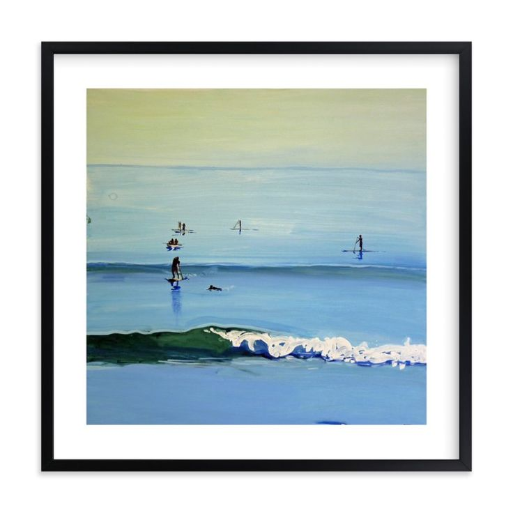 """PaddleBoarders, Malibu 2011"" - Art Print by Annie Seaton in beautiful frame options and a variety of sizes."