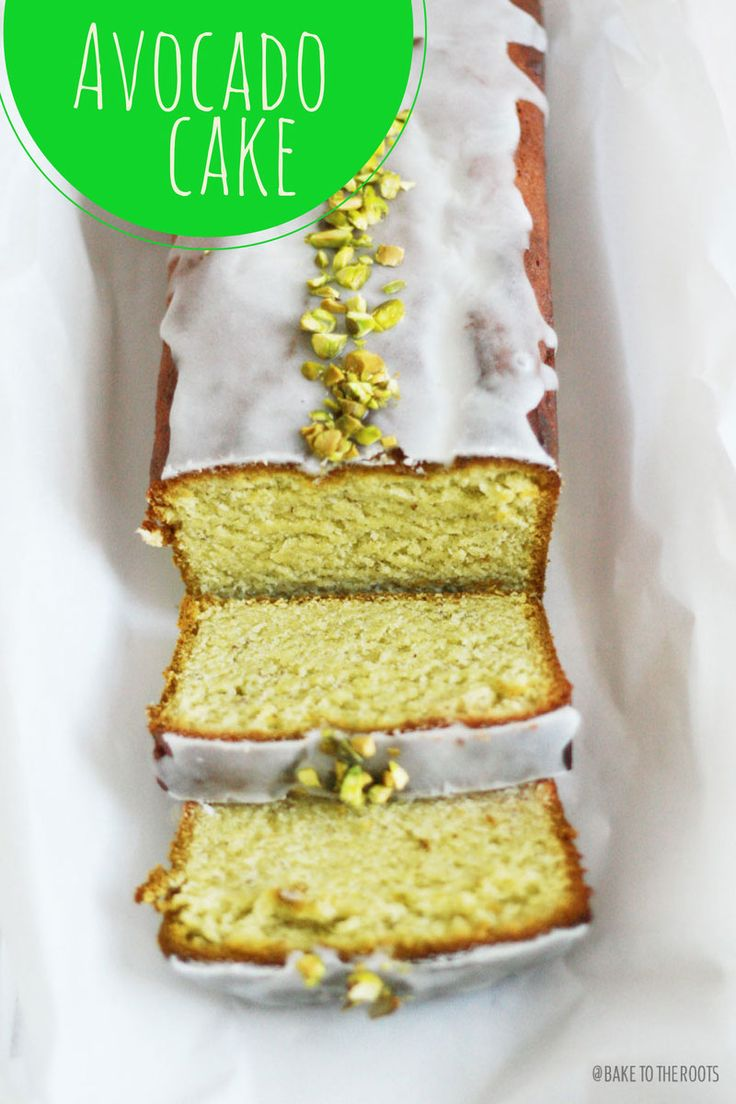 Avocado Cake: 1-1 1/2 ripe avocados 1 tsp. lime juice 1 cup (220g) butter, at room temperature 1 cup (200g) sugar 1 tsp. vanilla extract a pinch of salt 4 eggs 2 3/4 cups (350g) all-purpose flour 3 3/4 tsp. baking powder 1/2 cup (50g) ground almonds 3 1/2 tbsp.(50ml) milk