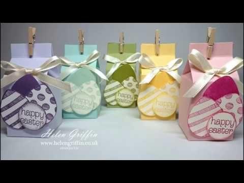 Springtime #6 Stampin'Up! Easter Mini Milk Treat Boxes - YouTube