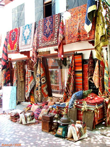Carpets and kilims, Paspatur, Fethiye, Turkey