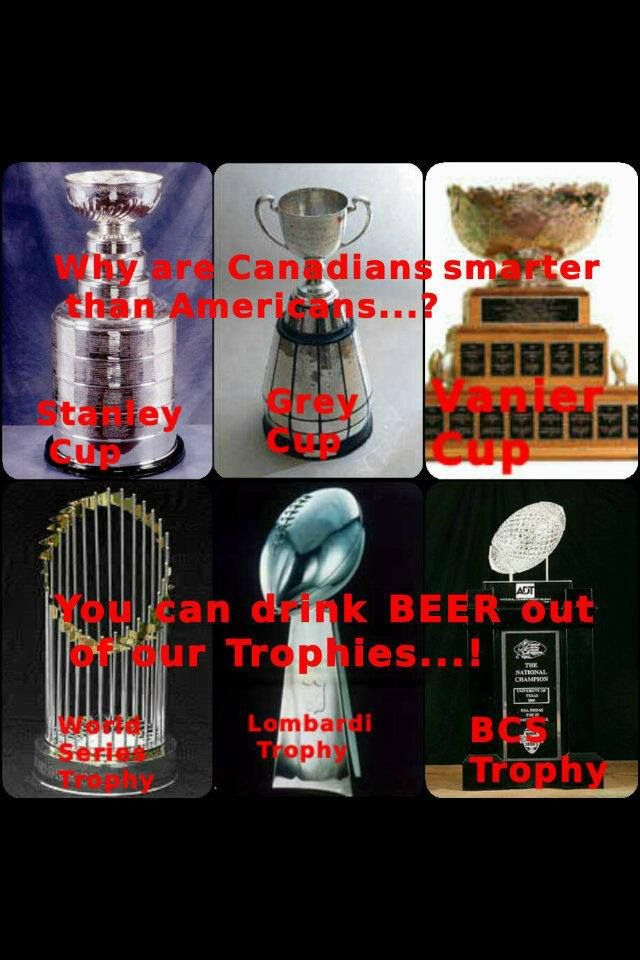 Because you can drink Beer out of our Trophies. #Canadian Canadian beer in New Zealand - http://www.beerz.co.nz/tag/beer-nz/ #Canadian #beer #nzbeer #newzealand