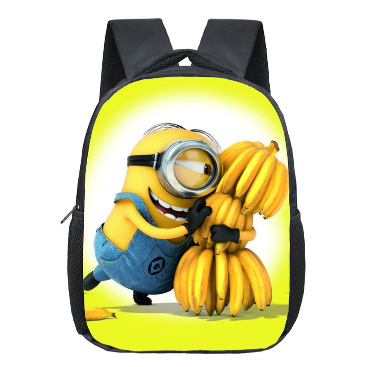 New 12 Inches Printing Cartoon Minions Kids Baby School Bags Boys Backpack kids Schoolbag Children Student Bag