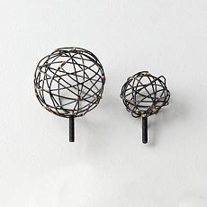 Curtain rod ends - could I make these out of wire and a ball?