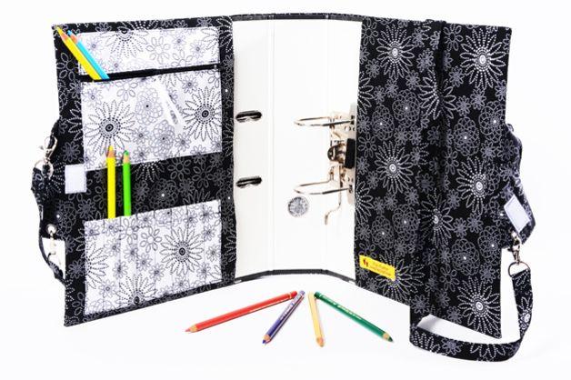 Federmäppchen - All in One- Ordner+Tasche+Stiftemappe - ein Designerstück von FilouFashion bei DaWanda