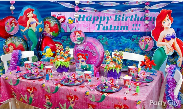 17 best images about little mermaid party adrian 39 s 1st on for Ariel birthday party decoration ideas