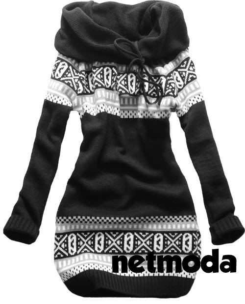 Black & White Norwegian Style Sweater