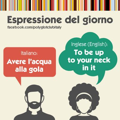 Italian / English idiom: to up to your neck in it