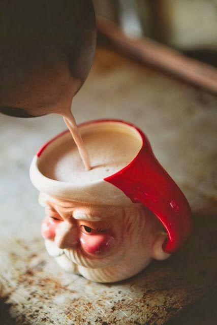 The most wonderful time of the year Hot Chocolate Santa Mug