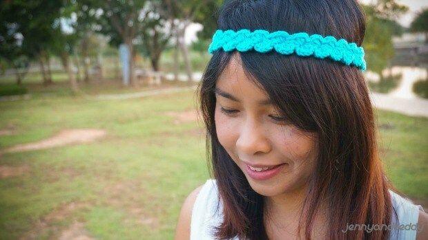 Easy shell  stitch crochet headband free pattern