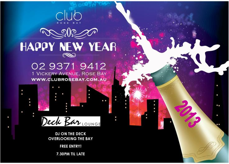 New Year's Eve on the Bay! Club Rose Bay #nye #newyear #free #party #celebrate #sydney #beach #waterview https://www.facebook.com/events/535249456571569/