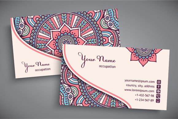 Business cards in ethnic style @creativework247