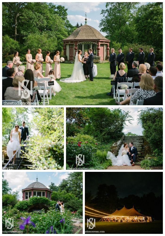 Beautiful images by Studio Nouveau from a summer wedding at The Estate at Moraine Farm.  #gardenwedding