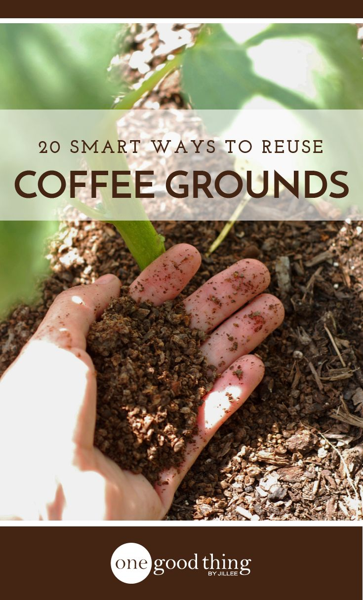 Don't toss out your used coffee grounds just yet! I'm sharing 20 brilliant ways to put those grounds to good use - inside and outside of your home!