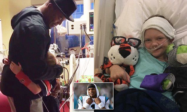 Cam Newton surprises terminally ill boy, 10, for Christmas.  He has a lot of critics... but one thing is for certain Cammy Cam loves the kids!  I've seen it with my own eyes.  No matter what is going on, he does great things for children, the community in which he lives and his home state.  Love me some Cammy Cam!