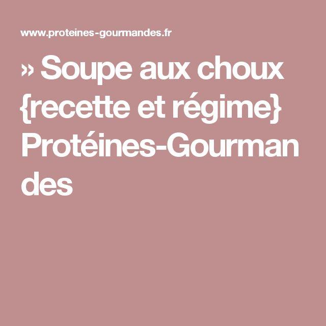 » Soupe aux choux {recette et régime} Protéines-Gourmandes