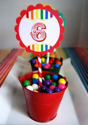 Centros de Mesa fáciles y económicos : Fiestas Infantiles Decoracion