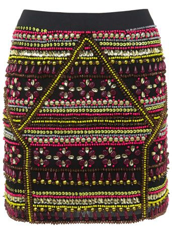 Embellished Neo Geo Skirt