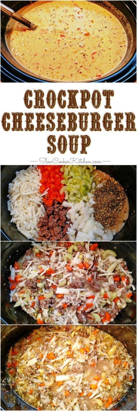 cheeseburger soup crock pot