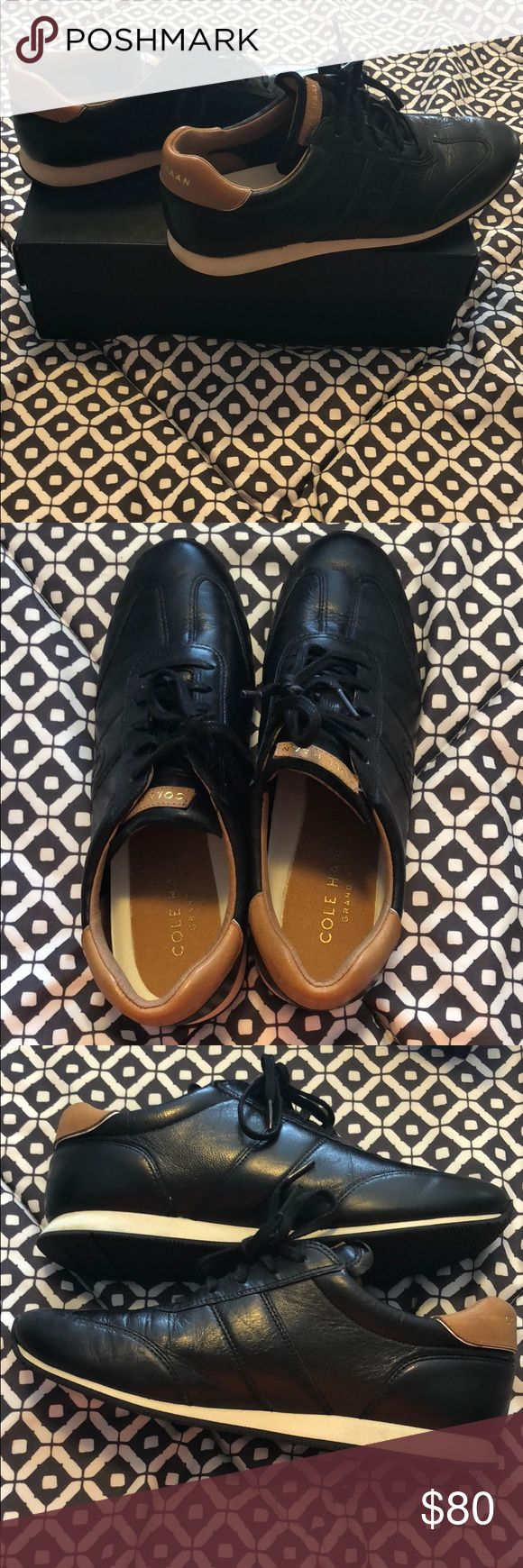 "Cole Haan Trafton Vintage Trainer Shoes Great condition & only worn a few times! Perfect for business or casual wear!  Leather/synthetic Rubber sole Platform measures approximately .25"" Fully lined Vulcanized rubber outsoles Cole Haan Shoes Sneakers"