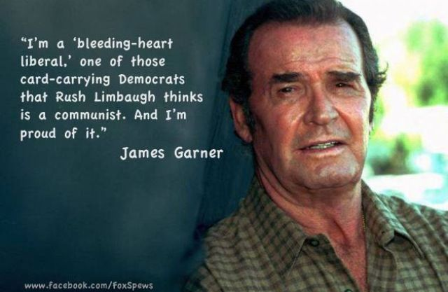 6/20/15 8:56p James Garner ''I'm a bleeding heart liberal..... '' He was a Korean War Veteran and was awarded the Purple Heart twice. twitter.com