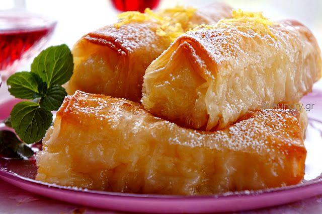 Kitchen Stories: Custard Filled Pastry Rolls-Galaktoboureko