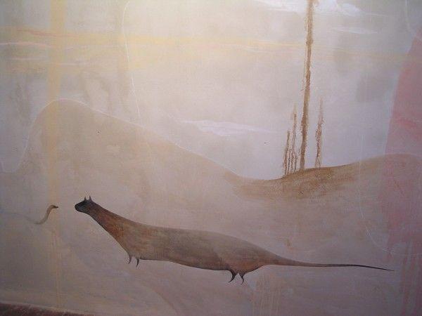 Karlínská kaple - Galerie Litera, Praha, snímek 5 | malba na zeď | 2010 | Obr.: 1/1