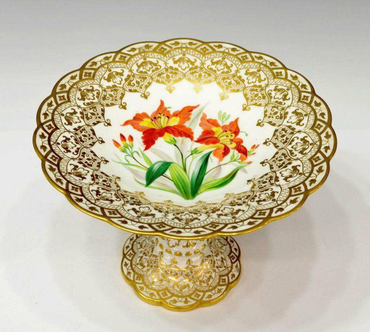 English Porcelain \u2014 Compotehand decorated in similar floral and gilt motif. D H centry  sc 1 st  Pinterest & 134 best Porcelain \u2014 United Kingdom images on Pinterest ...
