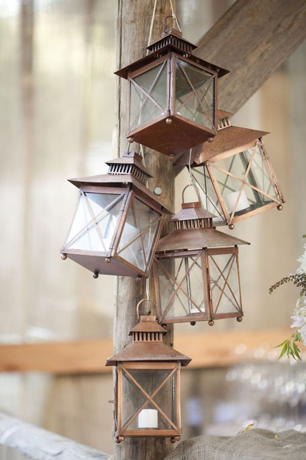 The original pinner had a great idea of wiring these as a chandelier. Another sunroom idea.: Rustic Lamp, Lanterns Decor, Lantern Decor, Style, Dream, Decoration, Wedding Ideas, Weddings, Candles Lanterns Lights