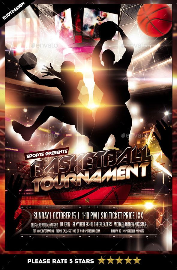 Best Tournament Flyers Images On   Basketball Event