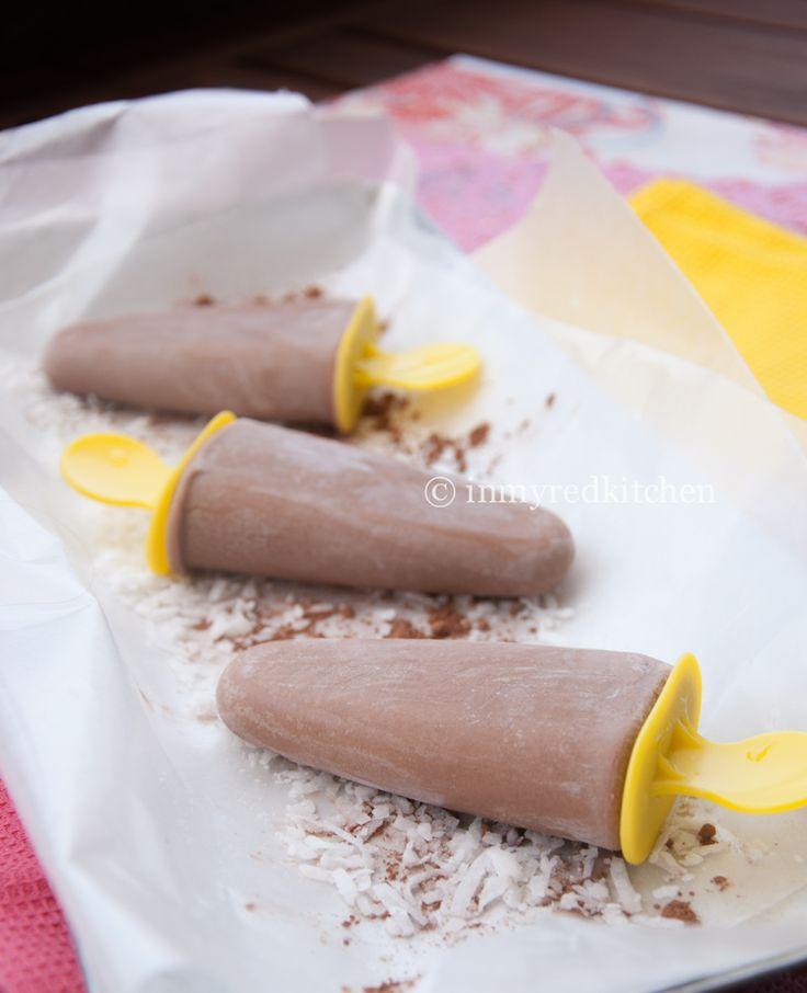 Coconut fudge popsicles | Recipe