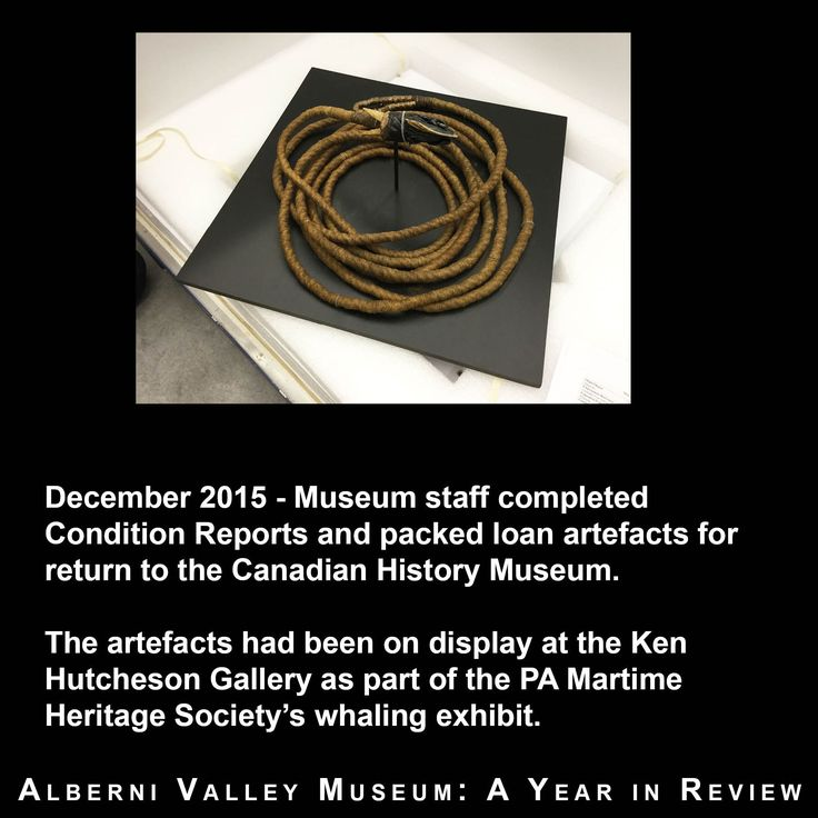 Alberni Valley Museum 2016 Year in Review No. 3