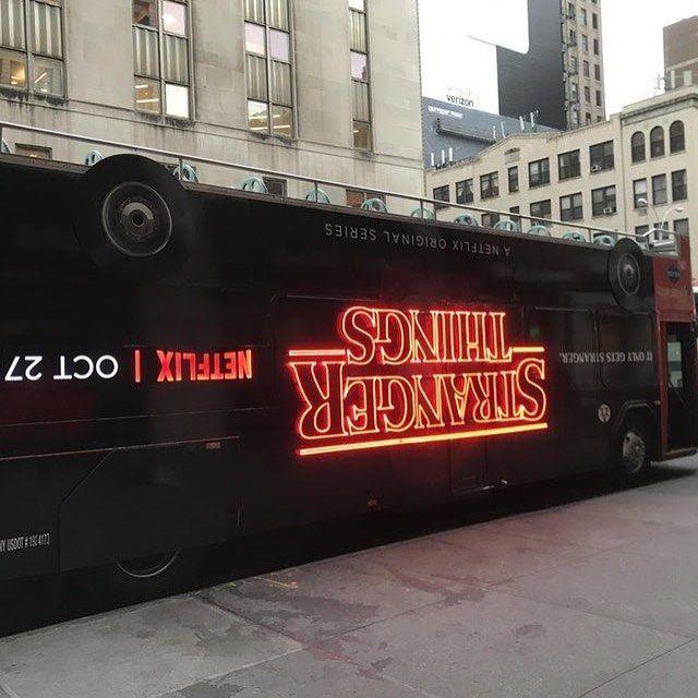 Stranger Things bus ad