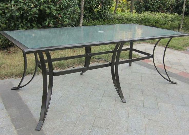 Westin Aluminum Dining Table with Glass Top (seats 8) - 12 Best Images About Outdoor Patio Tables (Glass) On Pinterest