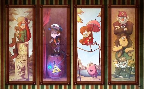 Gravity Falls x Haunted Mansion by Kope40