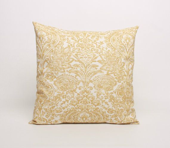 Set of 2 Throw Pillow Cover Yellow and by DimensionsHomeDecor