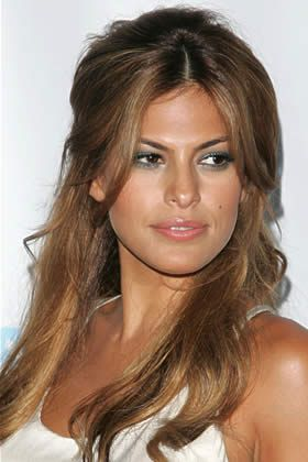Eva Mendes' Half-Updo: , Best Hot-Date Hair