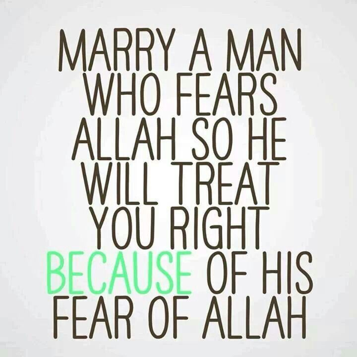"Islam--Culture vs Religion. Christians tell their daughters to marry a man who ""Honors his Priesthood"", and leads in ""Righteous Dominion"". Fear = Respect Of. I know Christians who beat their wives. I know Muslims who are devoted husbands."