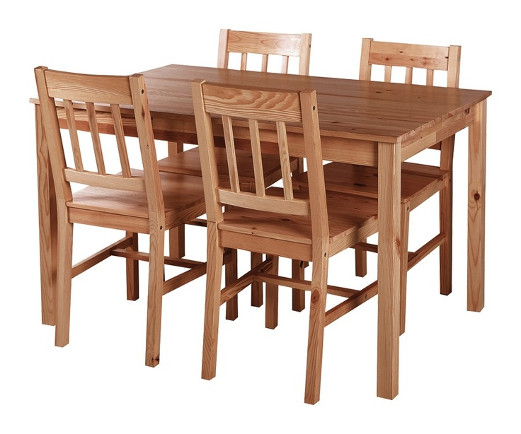 Jonas 5PC Dining Set Lacquered Or Stained JYSK Canada 119